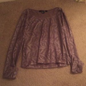 Soft brown sparkly Forever 21 Blouse