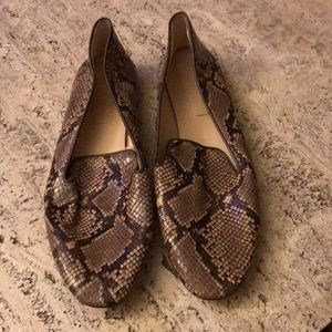 Zara Flats In Snake  patterned