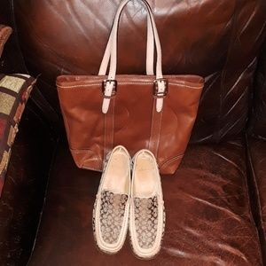 Coach Signature Loafers Size 8.5 B