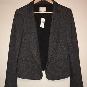 New Ann Taylor LOFT Black White Jacket Size 8
