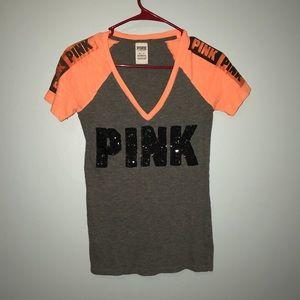 VS PINK bling xs V-neck tee