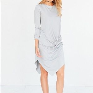 Gray urban outfitters asymmetric drape dress