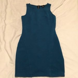 Forever 21 teal body con dress