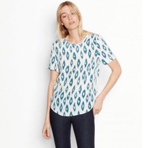 Equipment Riley Silk Tee Teal Print Size XS