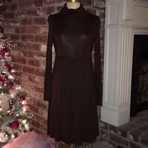 Soprano Brown Turtleneck Dress