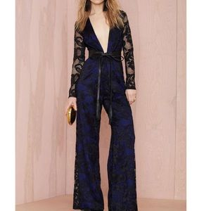 Nasty Gal Midnight Train Lace Jumpsuit
