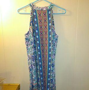 AS U WISH Boho Floral Print Choker Dress