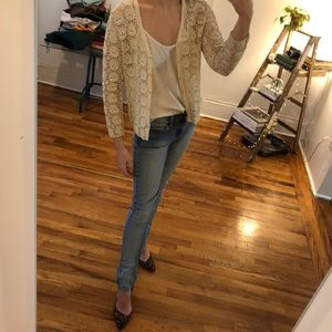 Vintage handmade crochet cardigan from China
