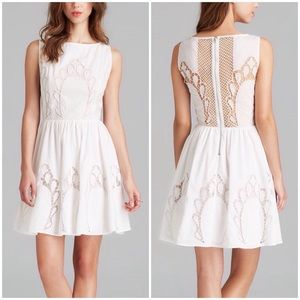 Alice & Olivia Vinny Embroidered Party Dress