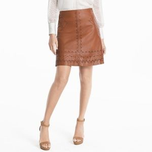Genuine Leather WHBM Holiday Skirt