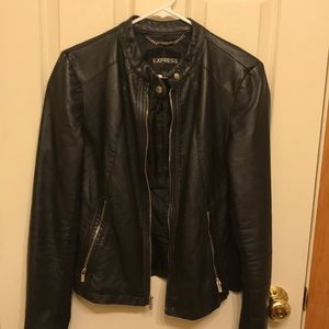 Staple black leather jacket from Express!