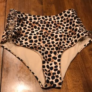 Cheetah print swim bottoms