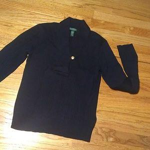 Ralph Lauren ribbed blue sweater