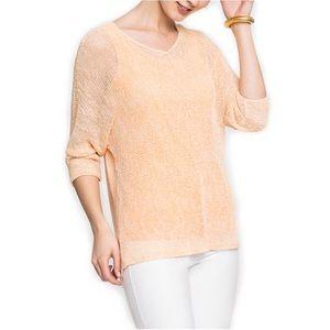Nic + Zoe Sunkissed Top Tangerine Light Sweater