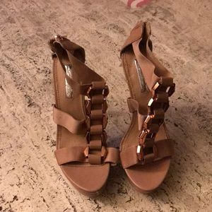 Nude rose gold H by Halston High heels
