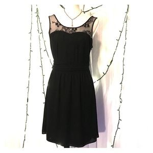 Express little black dress with lace detail