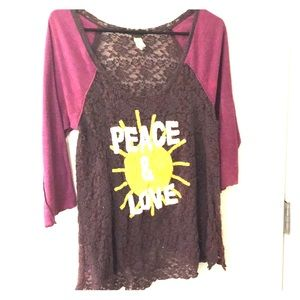 FREE PEOPLE | Embroidered Baseball Style Tunic | L