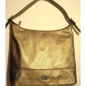 Fossil Marlow Metallic Pebbled Leather Tote