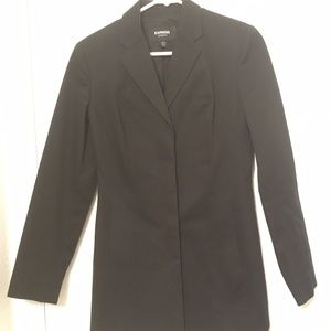 Express, black long blazer, S