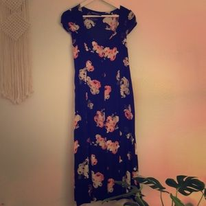 MINK PINK floral printed midi dress