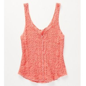 Intimately Free People Pucker Lace Notch Cami