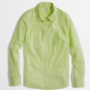 Stylish Gingham - J. Crew Perfect Button Up