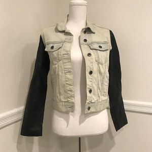 Bycorpus denim and faux leather jacket sz S