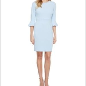 Light blue dress Nordstrom ruffle sleeve