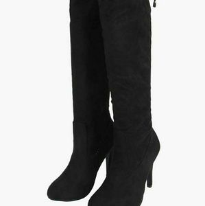Boohoo Isla Stretch Over the Knee Boots
