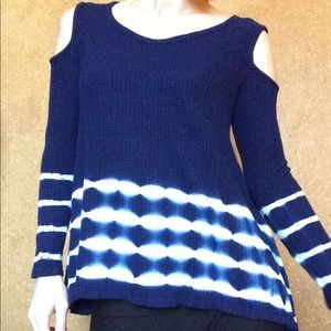 Anthropologie Tops - Tye Dye Cold Shoulder Stretch Thermal Long Sleeve