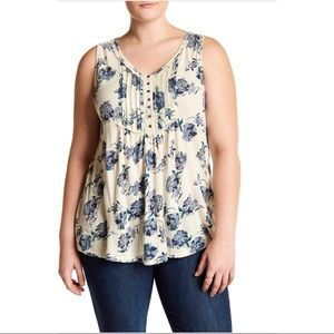 Lucky Brand Floral Tank Plus Size