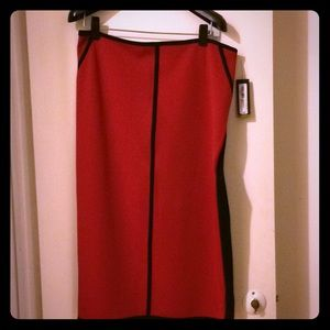 Black and red skirt with tags!