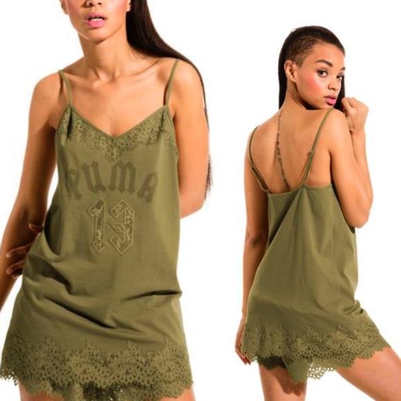abfc6623fc0c PUMA X FENTY Lace Trim Sleepwear Teddy Top