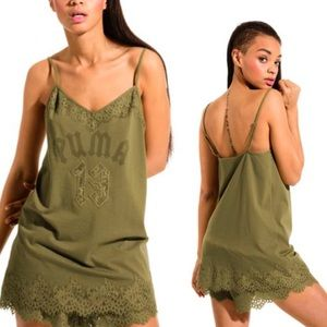 PUMA X FENTI Lace Trim Sleepwear Teddy Top
