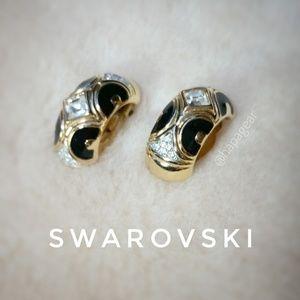 Vintage Signed Swarovski Earrings EUC