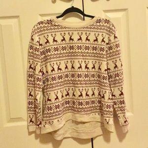 Forever 21 fair isle elk sweater