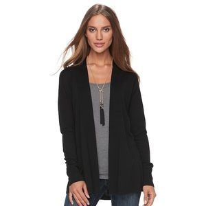 Black Merona Cardigan Sweater