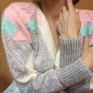 GORGEOUS Vintage Knit Pastel Eighties Sweater