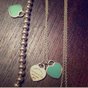 2 Tiffany Necklaces & Tiffany bracelet