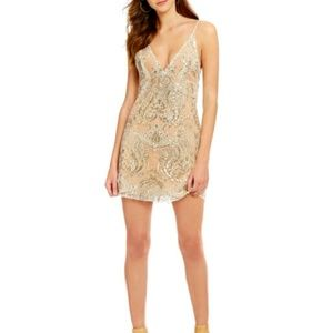 Free People Night Sequin Shimmer Mini Dress
