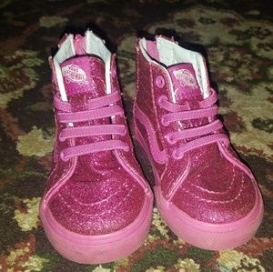 Sparkly toddler vans hightop