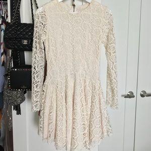 Long sleeve / Asymmetrical skirt / DRESS