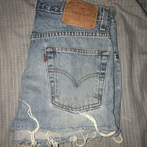 Levi's jean shorts. Urban outfitters.