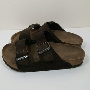 Birkenstock Arizona size 37 6 dark brown
