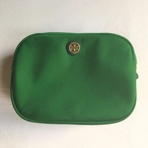 Tory Burch Double Pouch Makeup Cosmetic Bag
