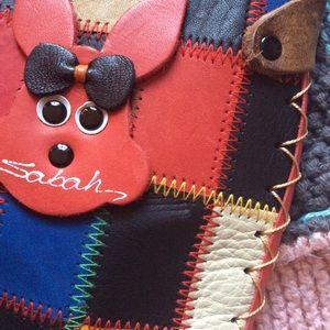 Vintage Bags - 💫Sabah Rainbow Leather Patchwork Mini Crossbody