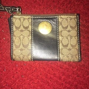 Coach Mini Wallet/Card Holder with Key Ring