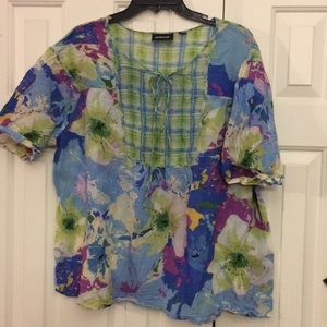 🇺🇸4/$50 Avenue top Blouse 22/24 listed as a22