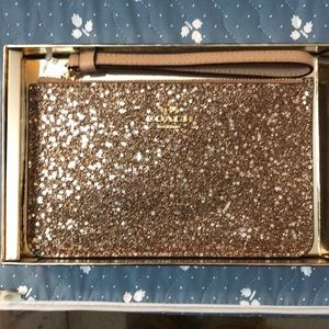 Coach sparkly beautiful wristlet NWB - stunning!