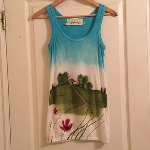 RARE Hand Painted Anthropologie Tank